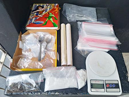 Menor com maconha, cocaína e utensílios para o preparo de drogas é flagrado no Nair Maria