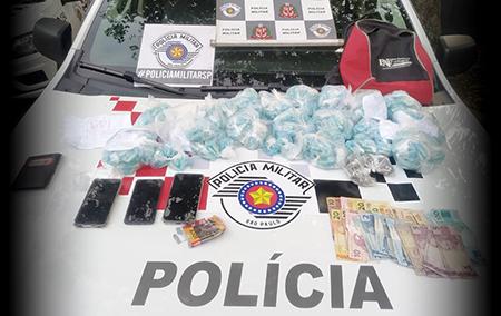 PM de Salto prende 2 mulheres e 1 homem por tráfico no Santa Efigênia