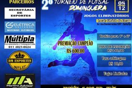 "Que tal disputar o 2º Torneio de Futsal Domingueira""?"