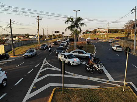 Prefeitura prepara nova rotatória para facilitar acesso à avenidas Migrantes e Nações Unidas