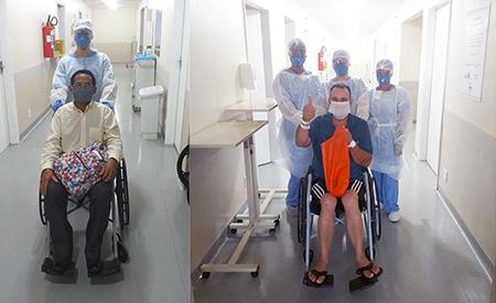 Pacientes curados da Covid 19 recebem alta do Hospital Monte Serrat e relatam atendimento e cuidados de excelência