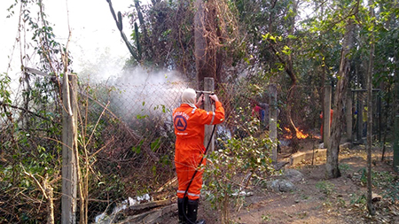 Read more about the article Incêndio atinge área próxima do Projeto Mucky em Itu