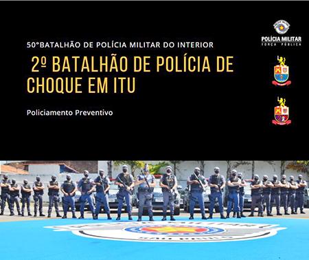 PM de Itu faz operação conjunta com policiais do Choque