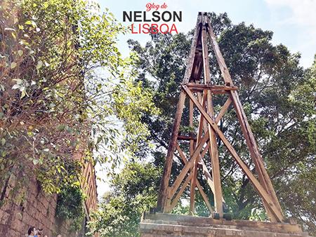 Ruínas do antigo teleférico da Brasital, no Caminho das Esculturas, serão demolidas