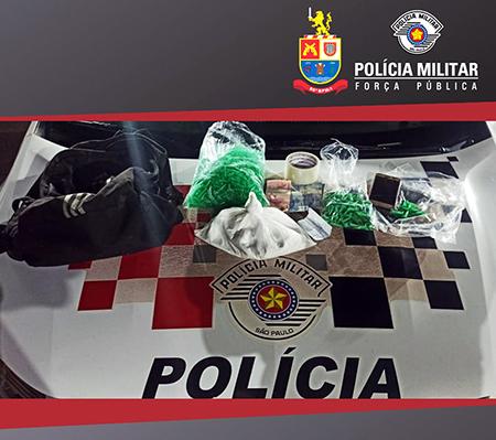 Dupla abordada tinha muita droga no carro e foi presa pela PM de Itu