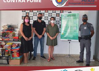 Batalhão da PM de Itu entrega alimentos para a Campanha Vacina contra a Fome