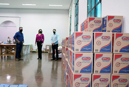 Read more about the article Dono da Construtora Rio Branco doa 3 toneladas de alimentos para Salto