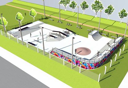 Pista de Skate deve ser construída pelo Estado em área em frente ao Rotary Clube