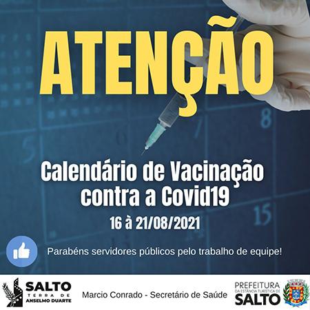 Read more about the article Confira calendário de vacinação até o dia 21 em Salto